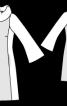 Міні-сукня із рукавами розтрубами - фото 3