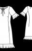 Сукня приталеного силуету з воланами - фото 3