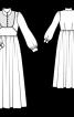 Закрита  довга сукня із комірцем стійкою  - фото 3