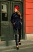Вузькі брюки-дудочки у байкерському стилі - фото 1