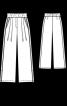 Широкі брюки на еластичному поясі - фото 3