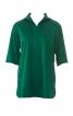 Блуза прямого крою із комірцем на блискавці - фото 2