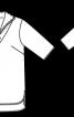 Блуза прямого крою із комірцем на блискавці - фото 3