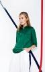 Блуза прямого крою із комірцем на блискавці - фото 1