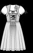 Сукня із рукавами-ліхтариками - фото 3