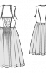 Сукня дірндль з декоративними монетками - фото 3