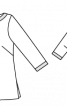 Блуза прямого крою із горловиною човником - фото 3