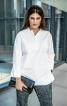 Блуза просторого крою із застібкою поло  - фото 1