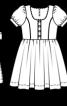 Сукня із руквами-ліхтариками - фото 3