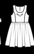 Сукня та фартух у фольклорному стилі - фото 3