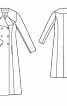 Приталене двобортне максі-пальто - фото 3