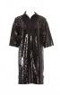 Сукня прямого крою з коміром - фото 2