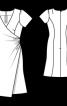 Сукня із V-подібним вирізом - фото 3