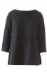Блуза прямого крою із горловиною човником - фото 2