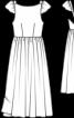 Сукня з глибоким вирізом на спинці - фото 6