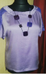 Лілова блуза - фото 1