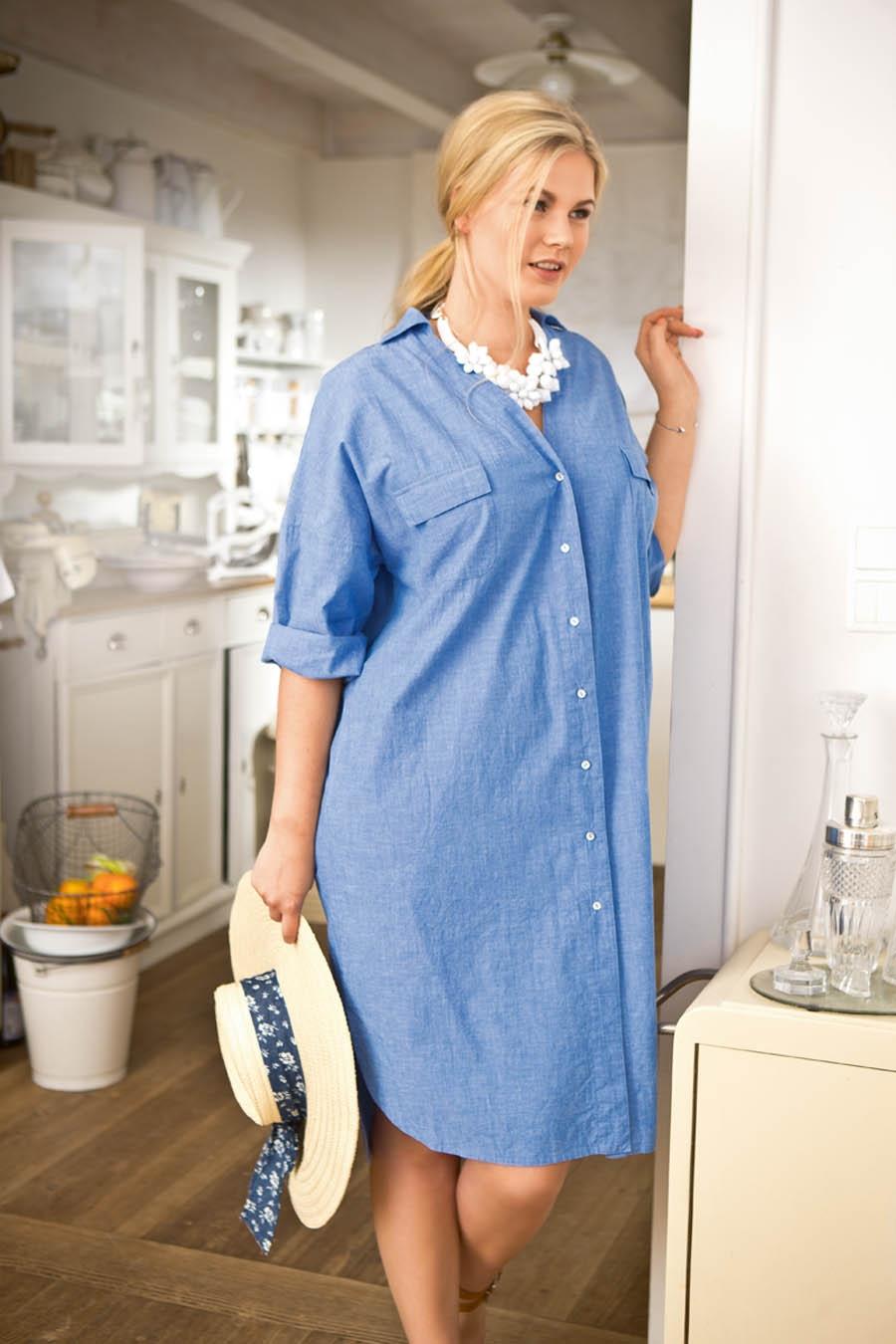 Фото платье рубашка для полных